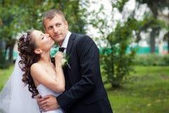 Het mooie Paar van het Huwelijk Stock Afbeelding