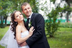 Het mooie Paar van het Huwelijk Royalty-vrije Stock Fotografie