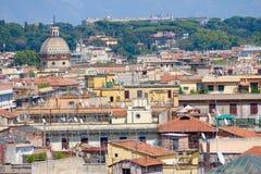 Het mooie panorama van Rome en mooie mening Stock Foto's