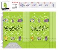 Het mooie Pasen-heldere malplaatje van het vakantiepakket vector illustratie
