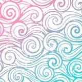 Het mooie patroon van de kleuren abstracte uitstekende golf Royalty-vrije Stock Afbeelding