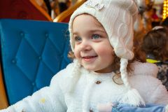 Het mooie peutermeisje kleedde zich als Carnaval-prinses royalty-vrije stock foto