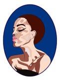 Het mooie pictogram van de vrouwenmanier in vector Stock Foto