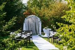 Het mooie plaatsen voor in openlucht huwelijksceremonie Royalty-vrije Stock Foto's