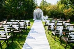 Het mooie plaatsen voor in openlucht huwelijksceremonie Stock Afbeelding