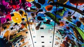 Het mooie plafond van de Marktzaal royalty-vrije stock foto