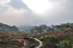 Het mooie platteland China Royalty-vrije Stock Afbeeldingen