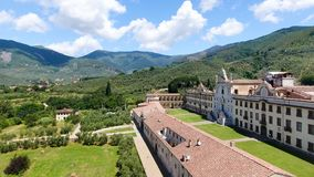 Het mooie platteland van Toscanië, luchtmening Royalty-vrije Stock Afbeeldingen