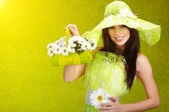 Het mooie portret van de de lentevrouw. Royalty-vrije Stock Foto