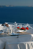 Het mooie restaurant plaatsen royalty-vrije stock foto