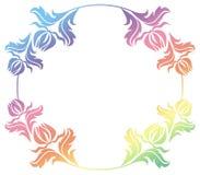 Het mooie ronde bloemenkader met gradiënt vult Roosterklem AR Royalty-vrije Stock Fotografie