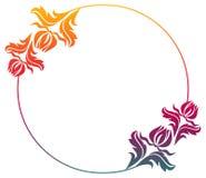 Het mooie ronde bloemenkader met gradiënt vult Roosterklem AR Stock Afbeeldingen