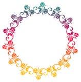 Het mooie ronde bloemenkader met gradiënt vult Roosterklem AR Stock Fotografie