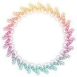 Het mooie ronde bloemenkader met gradiënt vult Roosterklem AR Royalty-vrije Stock Foto's