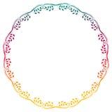 Het mooie ronde bloemenkader met gradiënt vult Roosterklem AR Stock Foto's