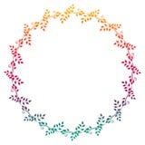 Het mooie ronde bloemenkader met gradiënt vult Roosterklem AR Royalty-vrije Stock Afbeelding