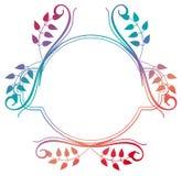 Het mooie ronde bloemenkader met gradiënt vult Roosterklem AR Royalty-vrije Stock Afbeeldingen
