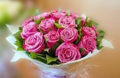 Het mooie roze boeket van Rozen Royalty-vrije Stock Foto