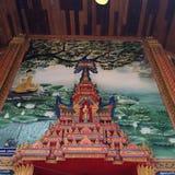 Het mooie schilderen op muur Royalty-vrije Stock Foto's