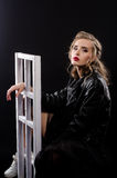 Het mooie sexy beeld van de blondestudio Royalty-vrije Stock Fotografie