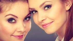 Het mooie speelse portret van zustersvrouwen Stock Fotografie