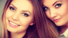 Het mooie speelse portret van zustersvrouwen Stock Foto's