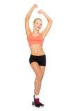 Het mooie sportieve vrouw dansen Stock Foto