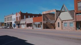 Het mooie stadscentrum van Stroud - een kleine stad in Oklahoma stock video