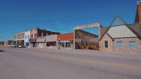 Het mooie stadscentrum van Stroud - een kleine stad in Oklahoma stock footage