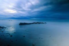 Het mooie strand bij labuan maleisië 02 stock foto's