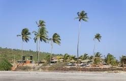 Het strand van Ashvem in Goa Royalty-vrije Stock Foto