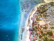 Het mooie strand van Zanzibar Nungwi Stock Foto