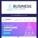Het mooie team van de Bedrijfsconceptenmerknaam, groepswerk, organizati vector illustratie
