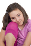 Het mooie tiener glimlachen Stock Foto's