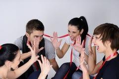 Het mooie tienerjaren spelen Stock Foto