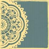 Het mooie Uitstekende Indische Malplaatje van het Ornament Royalty-vrije Stock Afbeeldingen