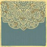 Het mooie Uitstekende Malplaatje van het Ornament Royalty-vrije Stock Afbeelding