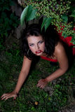 Het mooie vampiermeisje Stock Fotografie