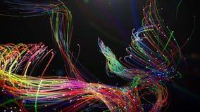 Het mooie verweven van gloeiende draden in een spiraal royalty-vrije illustratie