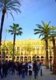 Het mooie vierkant van Barcelona stock foto's