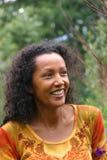 Het mooie vrouw glimlachen Royalty-vrije Stock Fotografie