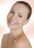 Het mooie vrouw glimlachen Stock Afbeelding