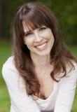 Het mooie vrouw glimlachen Royalty-vrije Stock Foto's
