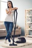Het mooie vrouw schoonmaken Royalty-vrije Stock Foto's