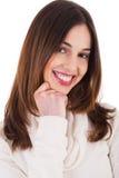 Het mooie vrouwelijke model glimlachen Royalty-vrije Stock Afbeeldingen