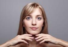 Het mooie Wijfje van de Blonde Stock Foto