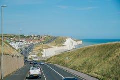 Het mooie zijaanzicht van het land rond West-Sussex stock afbeeldingen