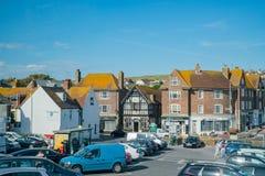 Het mooie zijaanzicht van het land rond West-Sussex stock fotografie