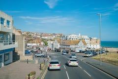 Het mooie zijaanzicht van het land rond West-Sussex royalty-vrije stock foto's