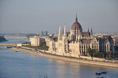 Het mooiste parlement in Boedapest Stock Foto